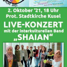 Live-Konzert mit SHAIAN – 2. Oktober 2021